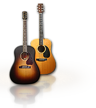 Gibson and Martin Acoustic Guitars